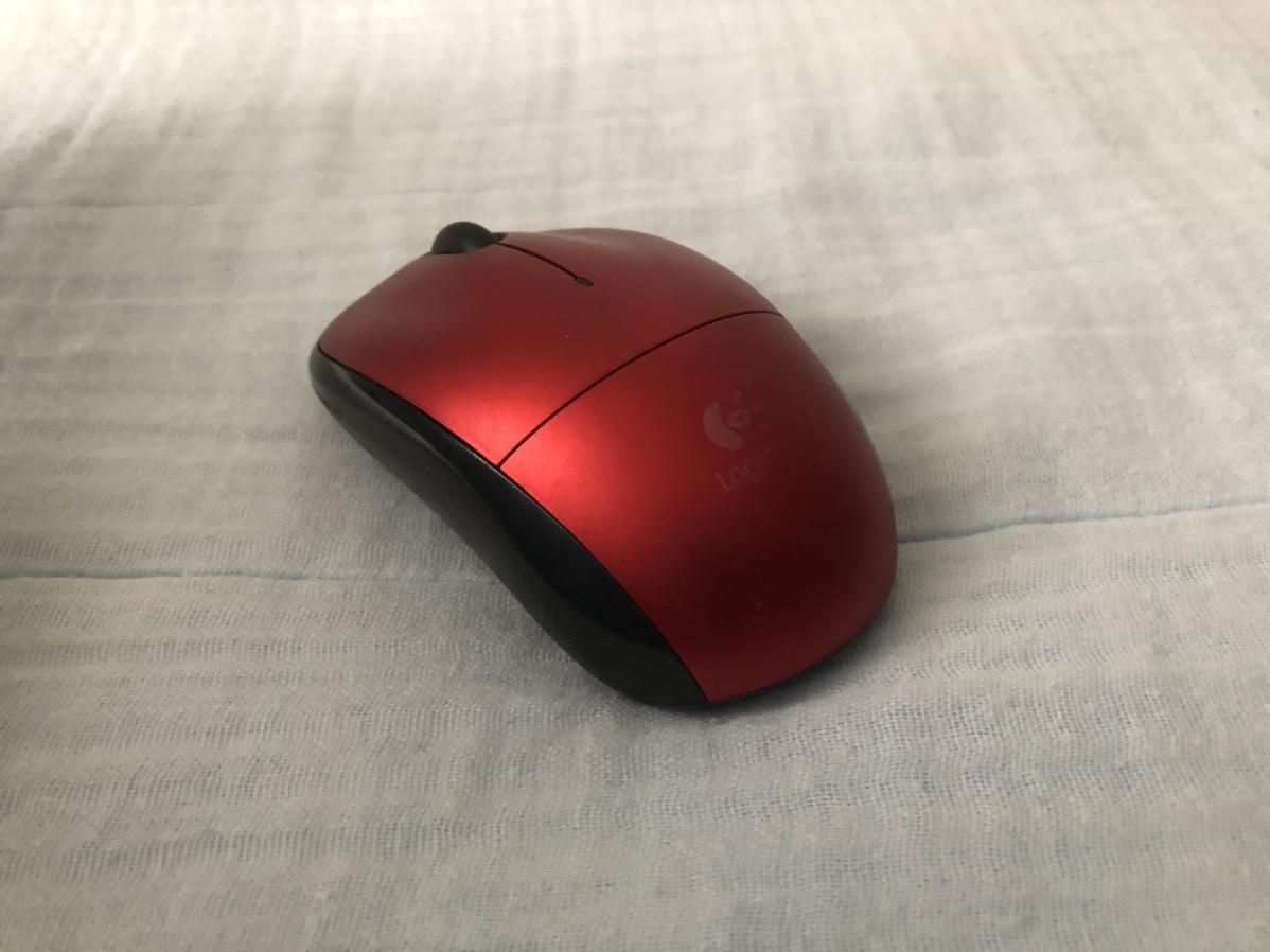 写りこみを防いだマウスの写真